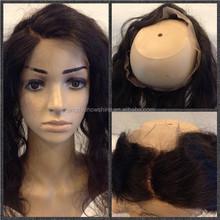 new product top fashion 4*26 inch elastic lace band brazilian virgin hair bald head wig