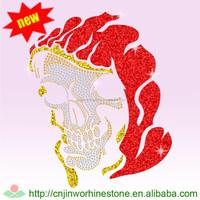 skull Iron On Rhinestone Decals Cartoon Transfer skull 2 (6)