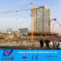 HYCM 4t tower crane QTZ50/5008 boom 50m fixed topkit tower crane
