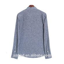 100% algodón camisa ocasional más la camisa de lino diseños para hombre