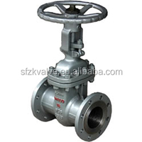 cast iron flange end hard sealing gate valve