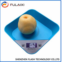 Multifunctional Precise Electronic Digital LCD White Backlight Kitchen Scale 5kg/1g 11lb/0.002lb Bowl Tare Auto Off Function