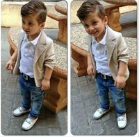 Children Boutique Clothes Baby Boy 3 Pieces Formal Suits For 4 Year Olds