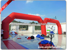 Red advertising inflatable arch