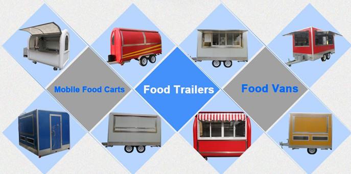 De venda automática carrinhos de comida de rua quiosque