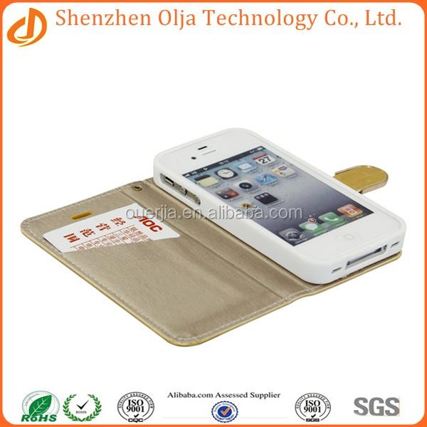 Wholesale manufacture leather flip case cover for apple iphone 6 plus, leather belt clip flip wallet case for iphone 6 plus