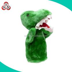 Cheap custom dinosaur hand puppet plush manufacture wholesale