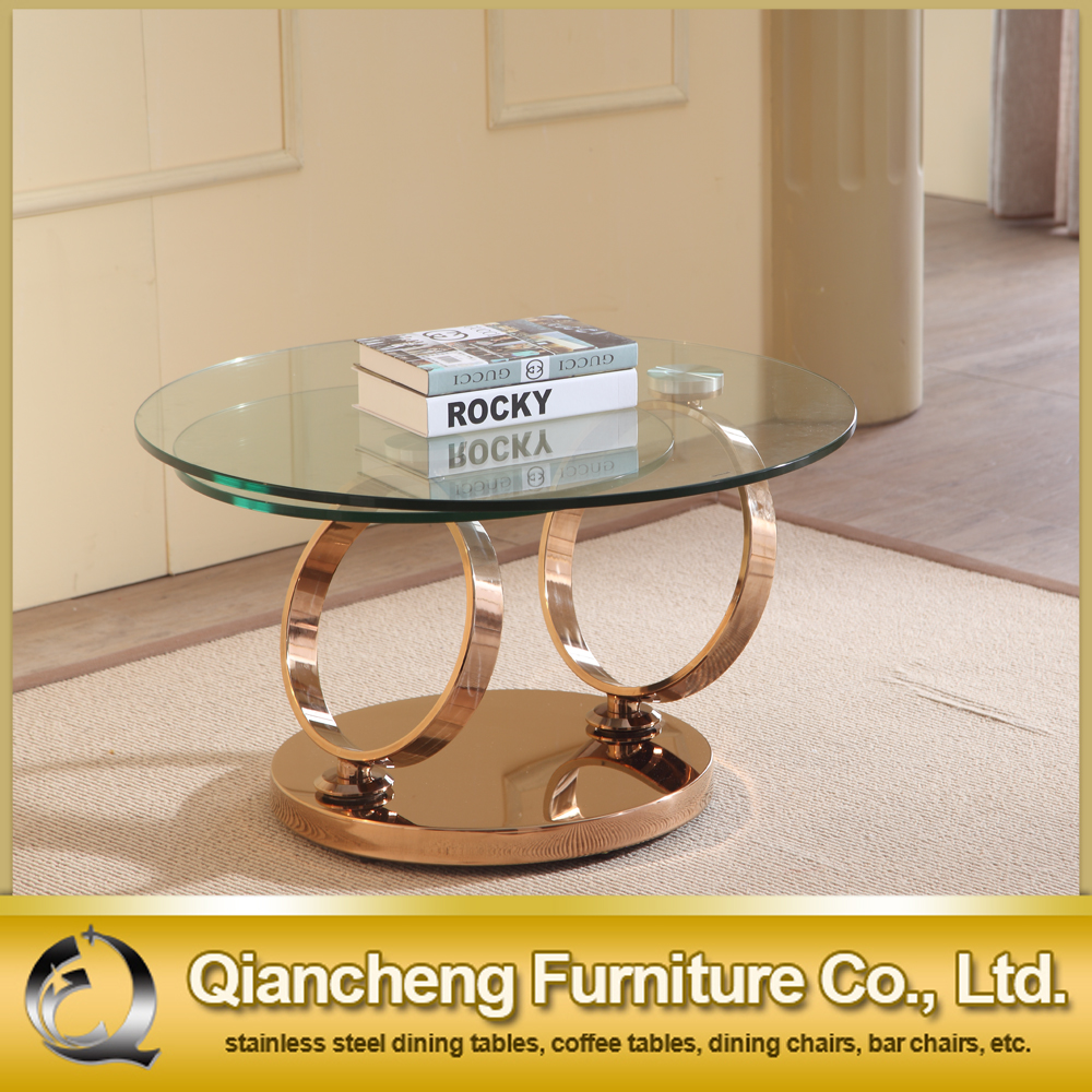 Stainless Steel Frame Functional Rotating Glass Coffee Table 857 Buy Rotating Glass Coffee