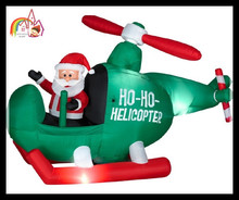inflatable santa claus helicopter / inflatable christmas helicopter outdoor Christmas holiday decoration