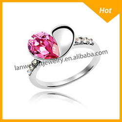 Cheap Wholesale Latest Excellent Stainless Steel Heart Shaped Rings
