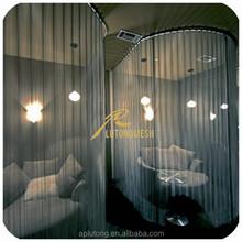 Metal mesh fabric drapery/metal chain curtains drapery/decorative metal coil drapery