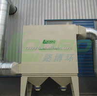 Stationary dust collector with cartridge filters, the project case use with pipe connection