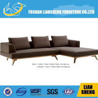 40 high density foam +fabric+solid wood frame Sectional SOFA