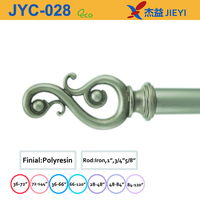 flower bud curtain rods,factory sale silvery home decoration curtain rods