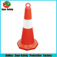 Zoyo-Safety Factory Wholesale Road Leader Adjustable Reflective PVC Or Cotton cone shaped lamp shades