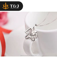 <<<High Quality Stylish Horse Shaped Elegant 925 Sterling Silver Pendant Chain Necklace /