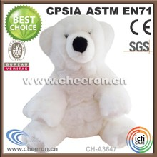 Very comfortable and cute stuffed white bear toys