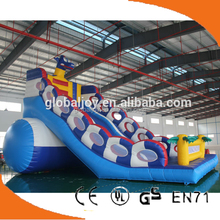 2015 inflatable Dragon inflatable slide/inflatable double lane slip slide