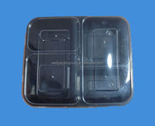 Microwave disposable food container for lunch box