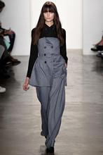Nuevo juego de moda Runway 2015 otoño Wonen doble de pecho largo Blazer Jacket + pierna flaco pantalón formales oficina ( 1 Unidades ) Suit Pant