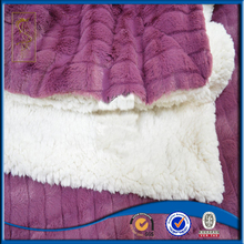 Low MOQ fast delivery cheap brushed blanket