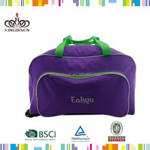 Polyester Material and Outdoor Sport Use sport duffel bag purple