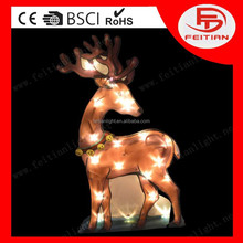 CE lighting christmas holiday battery decoration running deer new style led pvc light