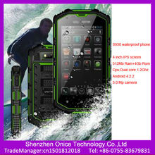 Ip68 military smart phone H5 4 inch IPS screen android 4.2 dual core mtk6572A dual card dual standby waterproof rugged phone