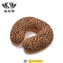 Leopard Print Foam Particle Filling Travel Neck Pillow