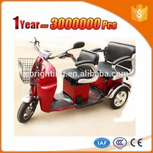 three wheel cargo motorcycle electric tricycle for 2 person