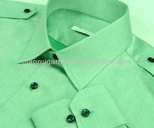 Hombres 100% lavada de lino dos bolsillos verde camisa casual