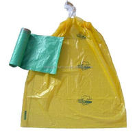 Plastic durable cheap drawstring bags