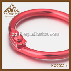 Fashion high quality red color painted binder rings