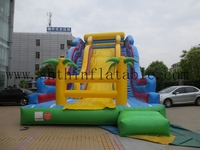 global sales giant inflatable slip slide/ hippo for kids and adults