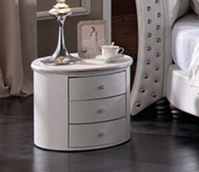 three drawers rolling bedside table, mobile nightstands, round bedside table