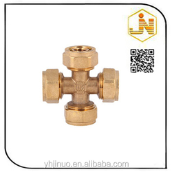 Lead Free Chrome Cross Copper Pipe Fitting