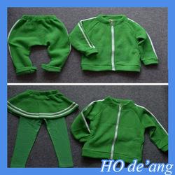 HOGIFT Children plus velvet suit,Digital sport baby suit ,cotton children suit