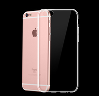 Ultra-thin Lucent Plastic Phone Case For iPhone 6/6s Anti-knock Soft Silicon Case