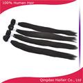 Hecho en china real chino virgen tramas del pelo de extensión, color negro natural del pelo recto