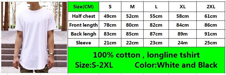 100% coton t-shirts à la palangre scoop bas hommes t shirt avec taille zips
