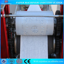 Napkin paper folding and printing machine, tissue paper machine