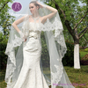 WJ04 Wedding Accessories One-Layer White Long Lace Wedding Veil
