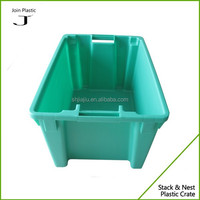 Stackable and nestable plastic vegetable bins without lid