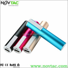 Mobile portable battery charger 5V 1A 3200mah lipstick power bank