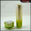 15g 30g 50g skin care cosmetics packaging; Green apple shaped acrylic jar,