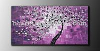 Large Abstract Contemporary Blossom Tree Thick Texture Gallery Fine Oil Painting