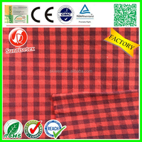 High quality brushed 100% cotton yarn dyed shirting fabric factory