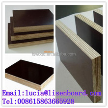 low prices 18mm film faced plywood sheets for concrete formwork , constrution shuttering plywood