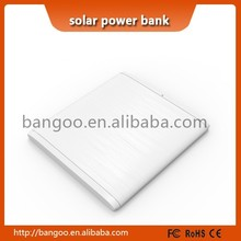 2015 hottest ultra thin solar power banks squared power banks white/green/pin/blue colors avaliable