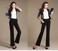 Hot sale elegant women high waist workwear pants
